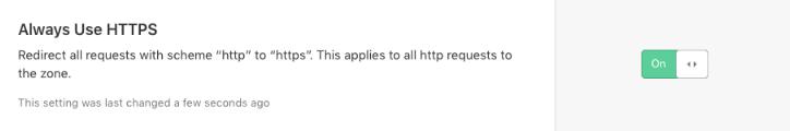 Always Use HTTPS有効